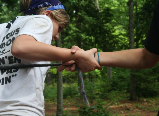 Lending a Helping Hand through Low Ropes