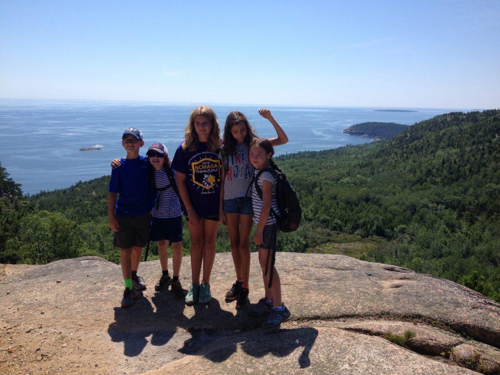 Whoo HOO! Top of Cadilliac Mountain in Acadia National Park