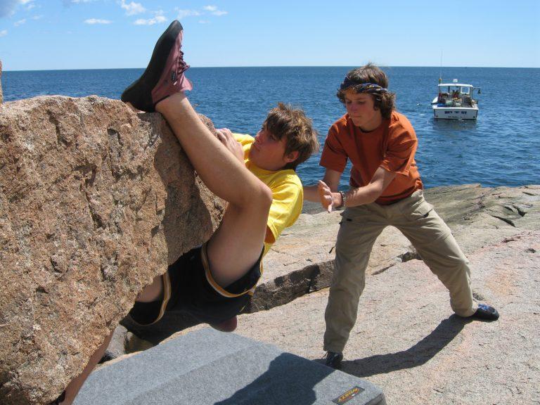 Sea side bouldering