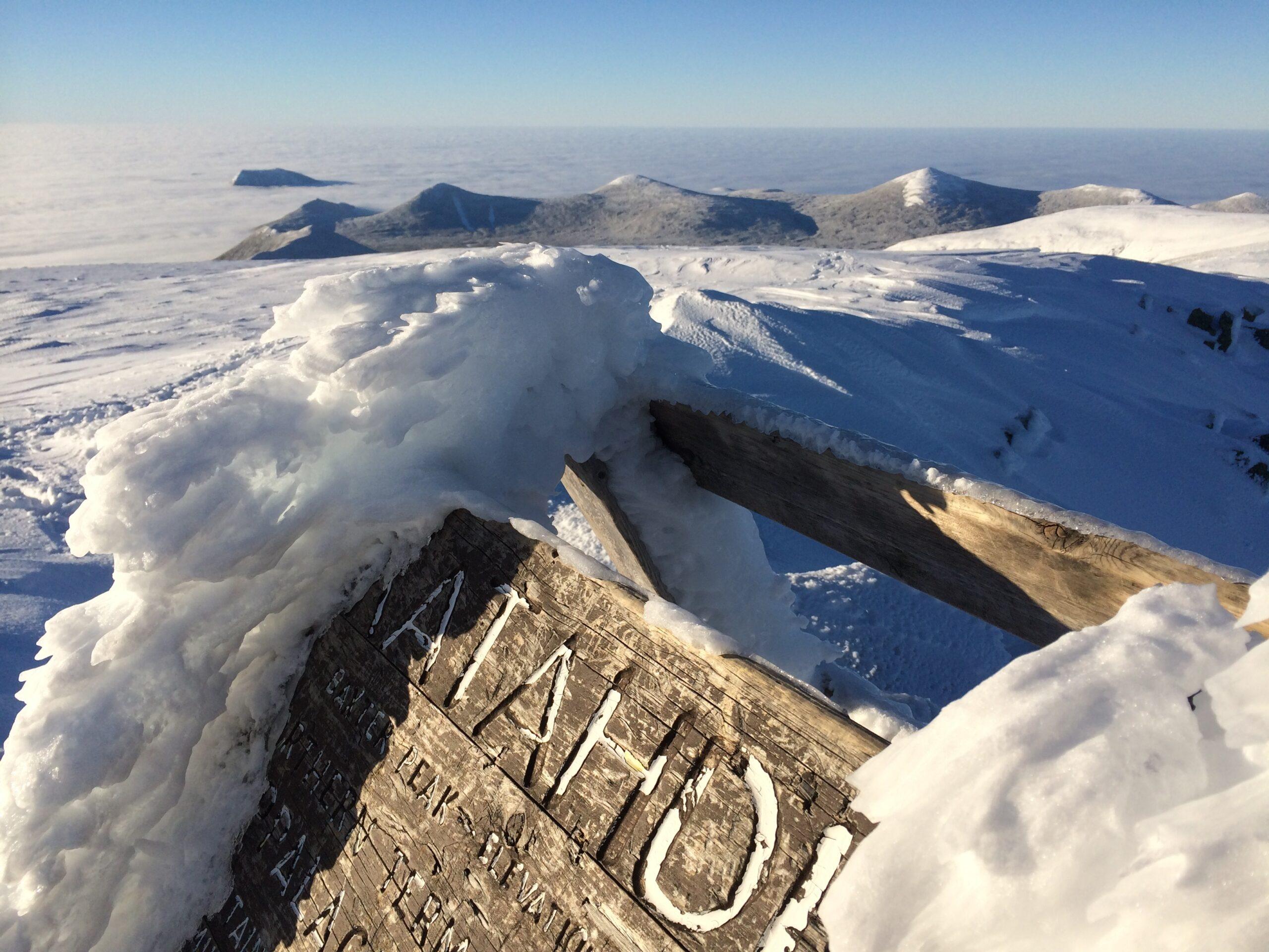 Beautiful winter day to summit.