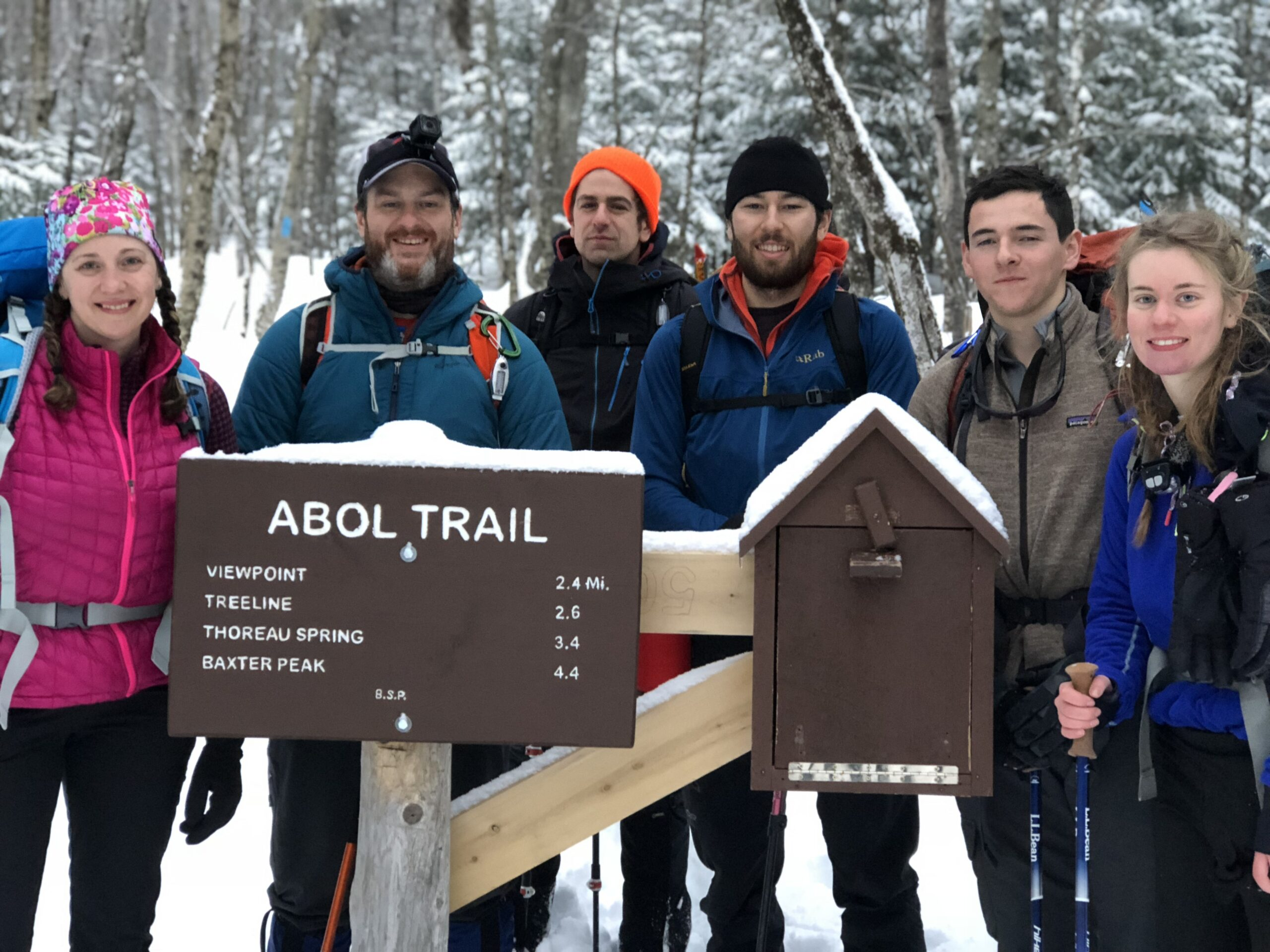 At the trailhead at Abol Campground