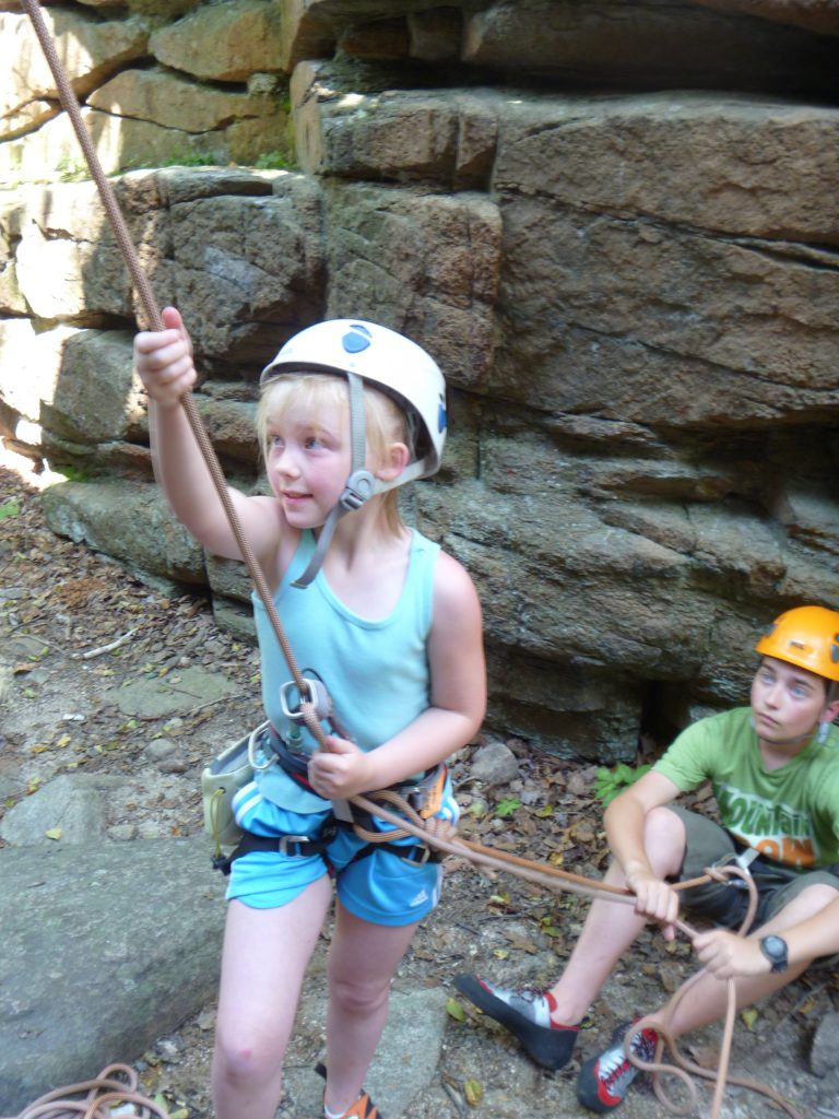How cool to belay.